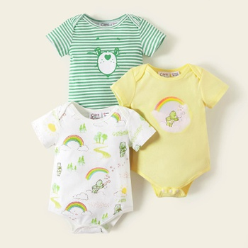 Care Bears Baby Cotton Rainbow and Stripe Romper/One Piece