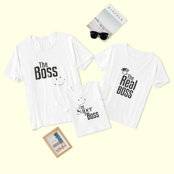 Boss Series Family Matching Cotton Tops