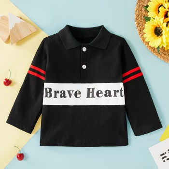 1pc Cotton Long-sleeve Baby Girl casual Letter Tee