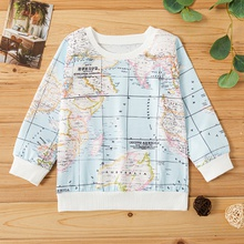 Baby / Toddler World Map Long-sleeve Pullover