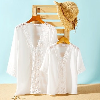 Lace Decor Beach Cover Up for Mommy and Me