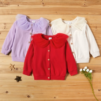 Toddler Girl Sweet Solid Coats & Jackets