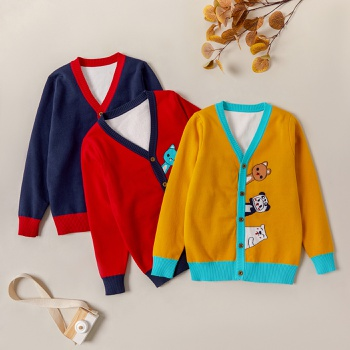 Fashionable Animal Print Button Knitted Sweaters