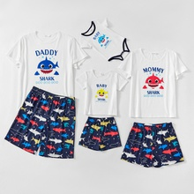 Family Shark Pattern Matching Pajamas Set(Flame Resistant)