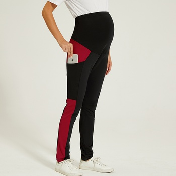 Maternity casual Color block pants