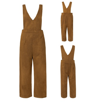 Mommy and Me Coffee Solid Tank Jumpsuits