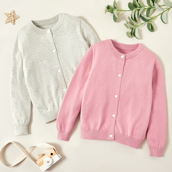 Fashionable Solid Button Sweaters Cardigans