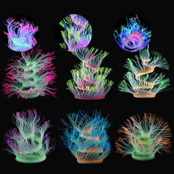 Aquarium jewelry silicone simulation soft coral