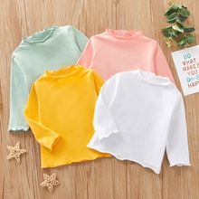 Baby Girl casual Heart-shaped Sweaters Solid Cotton Fashion Long Sleeve Infant Clothing Outfits