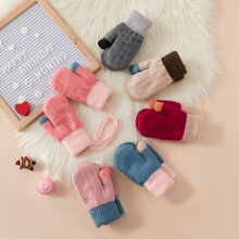 Baby / Toddler  Colorblock Thicken Gloves