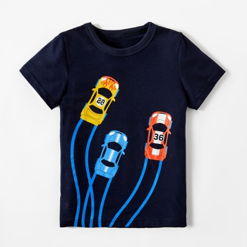 Stylish Cars Race Print Tee