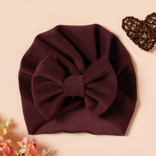 Baby Solid Bowknot Hat