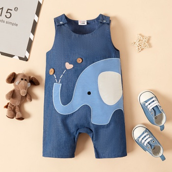 1pc Baby Boy  Animal Print Polyester&Cotton Summer Spring More Festivals Pants Jumpsuits