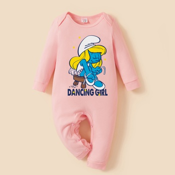Smurfs Dancing Girl 100% Cotton Baby Girl One Piece