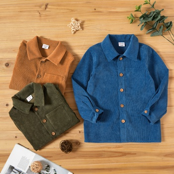 Toddler Boy Casual Corduroy Shirt