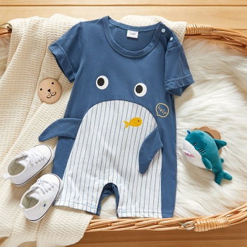 Baby Short-sleeve Casual Animal&Whale Rompers & Bodysuit