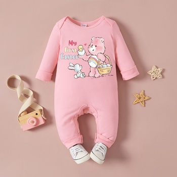 Care Bears Baby Girl Bunny My First Easter 100% Cotton One Piece