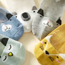 5-pack Baby / Toddler / Kid Cartoon Animal Breathable Socks