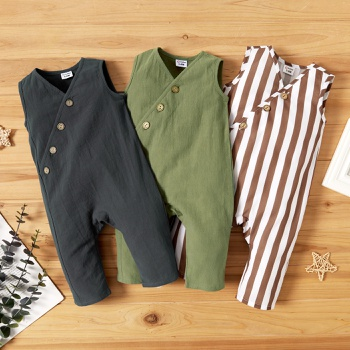 1pc Baby Unisex Sleeveless Cotton casual Jumpsuits