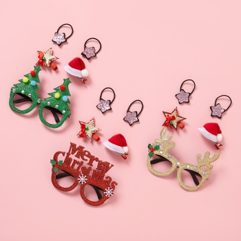 Christmas decoration pet hairpin hairpin glasses