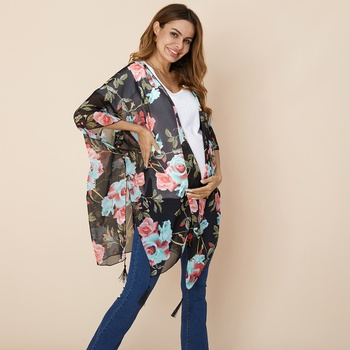 Pretty Maternity clothing Floral Coat