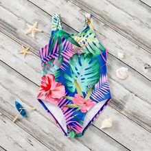 Toddler Girl Tropical Print One piece Swimsuit