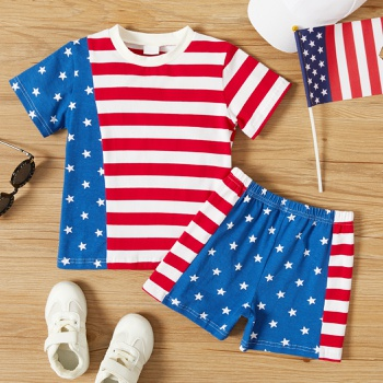 2-piece Toddler Stars Striped Flag Set of Independence Day