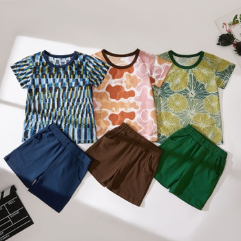 2-piece Baby/Toddler Sports Mesh Tee and Solid Color Shorts