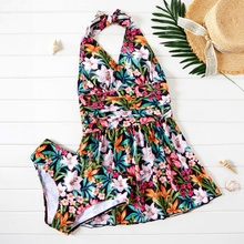 Pretty Floral Print Vacation two piece/bikini swimwear