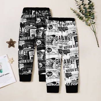Trendy Comic Allover Print Sweatpants