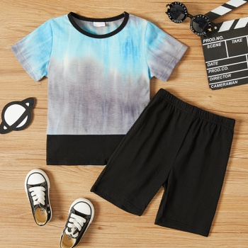 2-piece Toddler Boy Tie Dyed Tee and Shorts Set