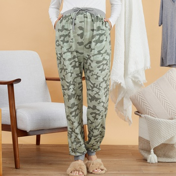 Maternity Sports Camouflage full print Multi-color Casual pants