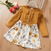 Kid Girl Retro Floral Dress