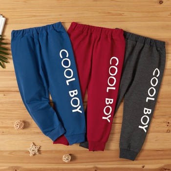 Toddler Boy Casual Letter Print Sweatpants