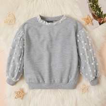 Baby / Toddler Mesh Splice Solid Pullover
