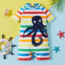 Toddler Boy Stripes&Animal Swimsuit