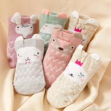 5-pack Baby Cartoon Thin Breathable Animal Socks