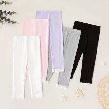 Kids Girl Lace Hollow Out Leggings