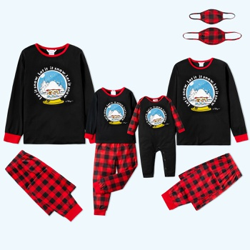 Smurfs Let It Snow Family Matching Christmas Pajama Sets(Flame Resistant)