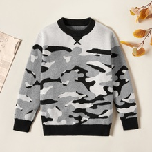 Trendy Camouflage Knitted Sweater