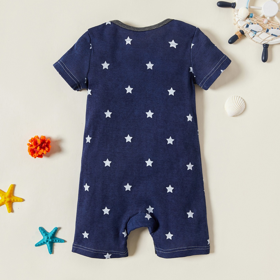 4-pack Baby Boy Stripes and Stars Bodysuits Set Only $11.99