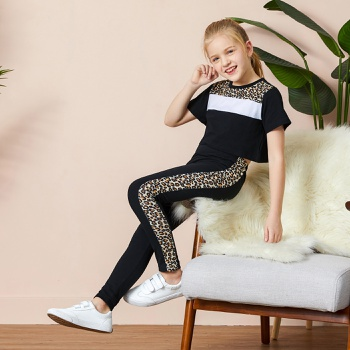 Kid Girl Leopard Top & Pants Set