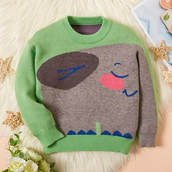 Baby / Toddler Elephant Green Long-sleeve Sweater