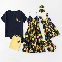 Mosaic Family Matching Lemon Series Sets(Tank Dresses -  Tops - Rompers - Masks)