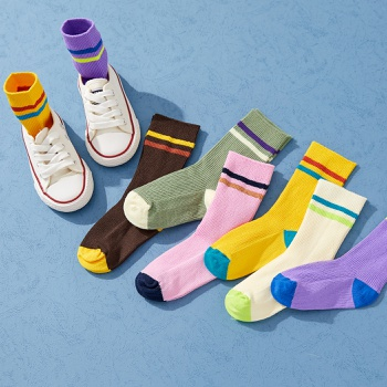 Baby / Toddler / Kid Colorblock Knitted Middle Socks
