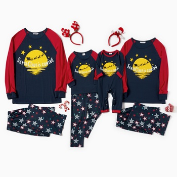 Christmas Moon Family Matching Pajamas Sets(Flame resistant)