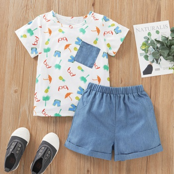2-piece Baby / Toddler Boy Print Tee and Shorts Set