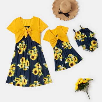 Sunflower Series Matching Dresses for Mommy and Me