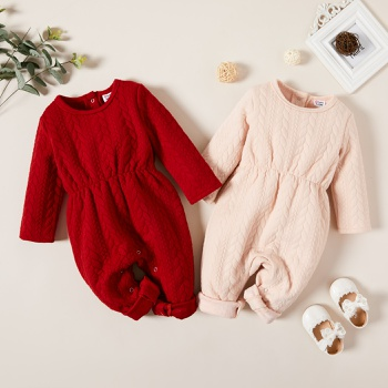 Baby Girl Sweet Solid Jumpsuit