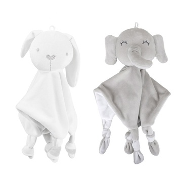 Elephant Rabbit Design Baby Security Blanket Storage